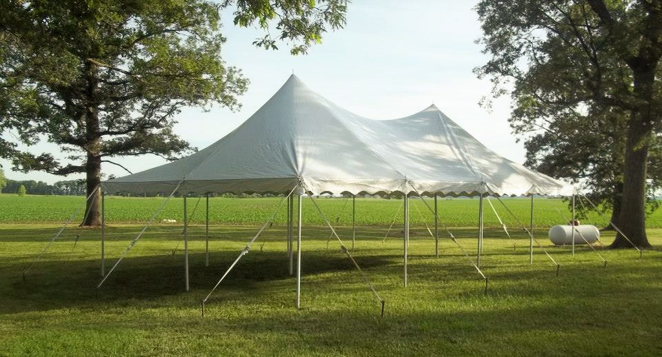 how to set up a 20x40 pole tent